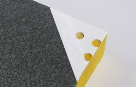 PERF Panel detail showing facing and scrim Asteroid fabric